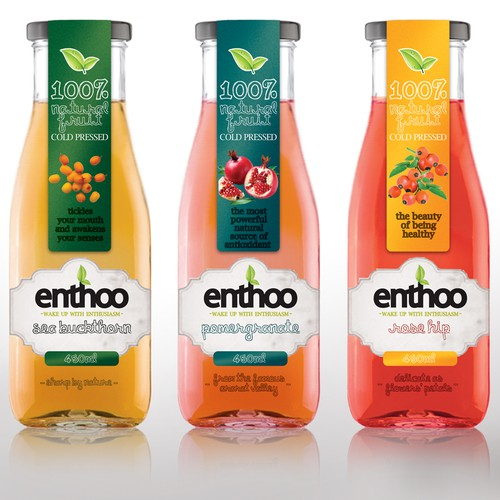 Packaging design for Natural fruit juices