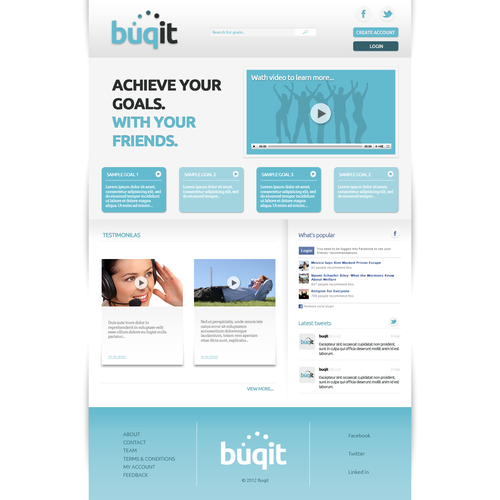 Help Buqit with a new website design