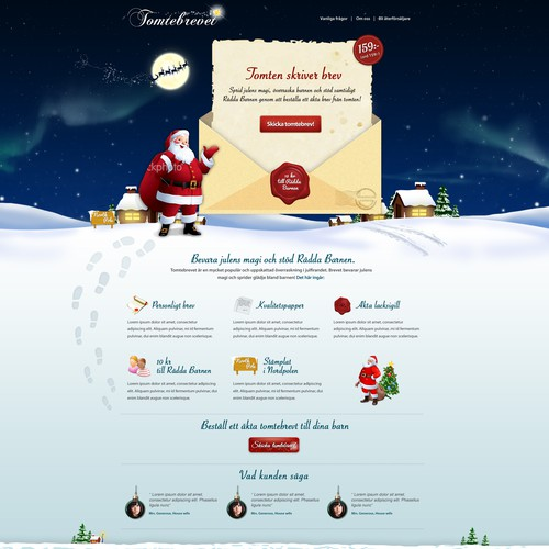 Create a  Christmas landing page - Letter from Santa Claus! (Great asset to your portfolio)