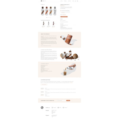 Design the CLEANEST product page of all time