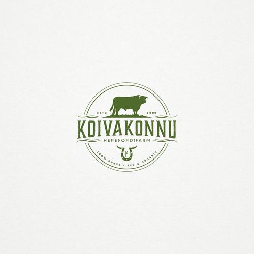 Vintage inspired logo for KOIVAKONNU