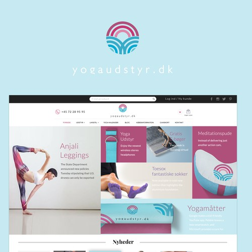Design for yoga site