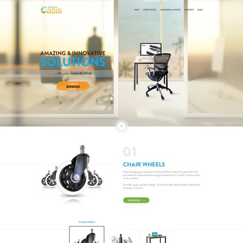 Homepage design for rollerblade wheel office chair