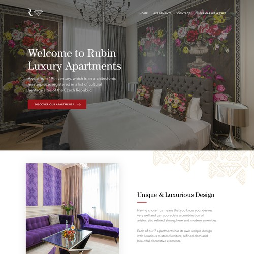 Luxury Apartments Website Design