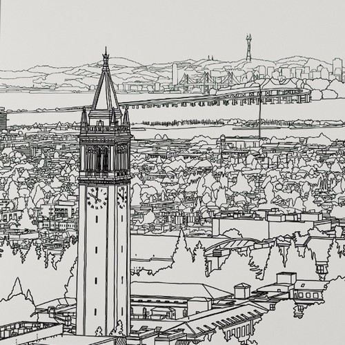 Cool illustration of Berkeley!
