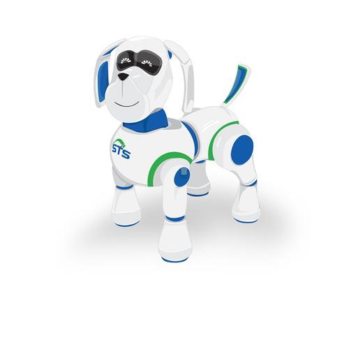 robot dog mascot