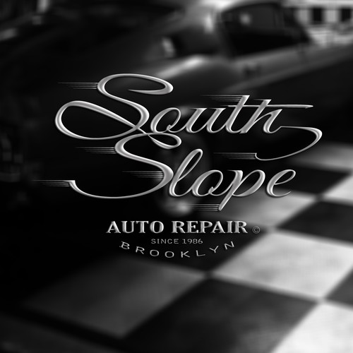 Create a simple and vintage logo for Brooklyn Auto Shop