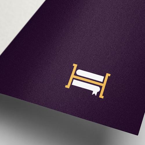 Logo design for hooked books