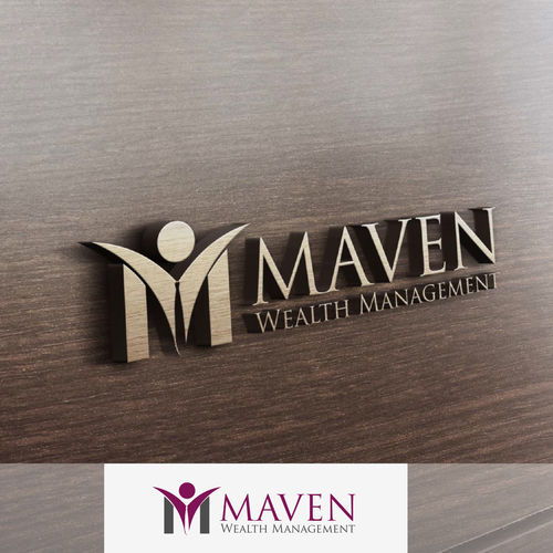 Create an attractive logo design for Maven Wealth Management