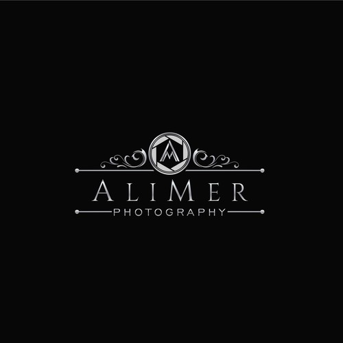 Create a sophisticated logo for the gallery art of AliMer Photography