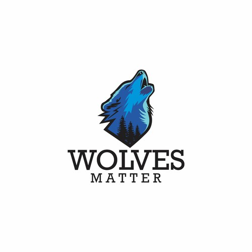 logo concept for wolves matter