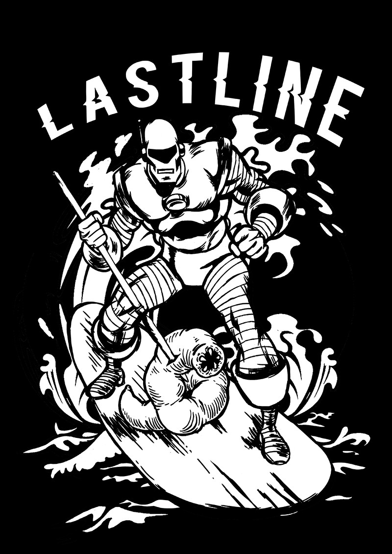 Create a malware-killing retro robot surfing for Lastline!