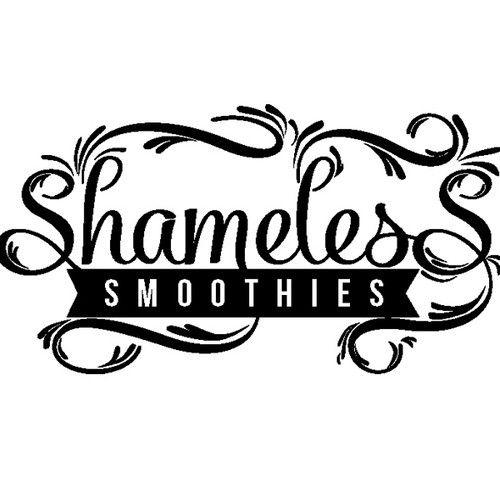 Create a simple and stylish logo for Shameless Smoothies