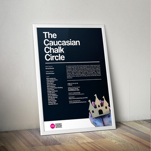 Theatre Event Poster and Facebook Cover for Sydney Theatre School