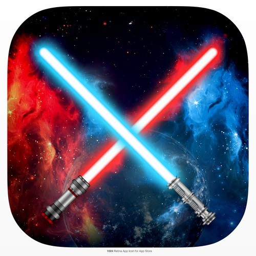 iPhone Lightsaber app - we need a fresh iOS app icon!