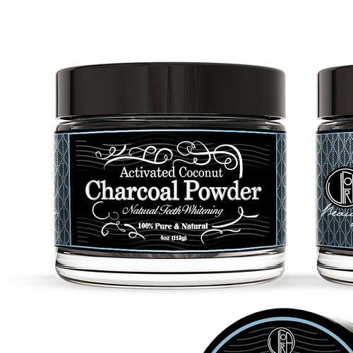 Charcoal powder, label design
