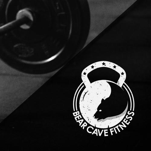 Minimalist logo for bear fitness