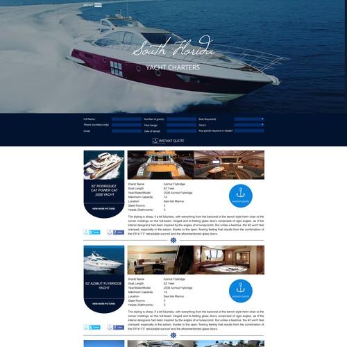 yacht chartering company