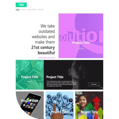 Custom Portfolio Homepage