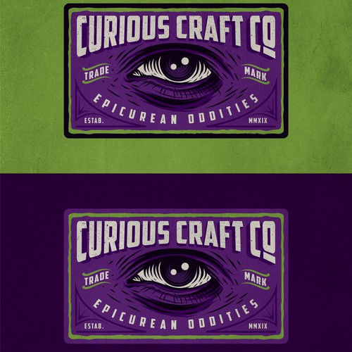 curious craft co logo design