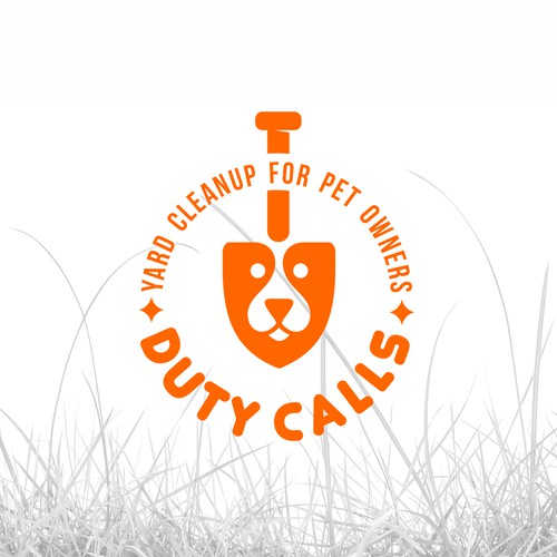 Playful logo for picking up dog poop!