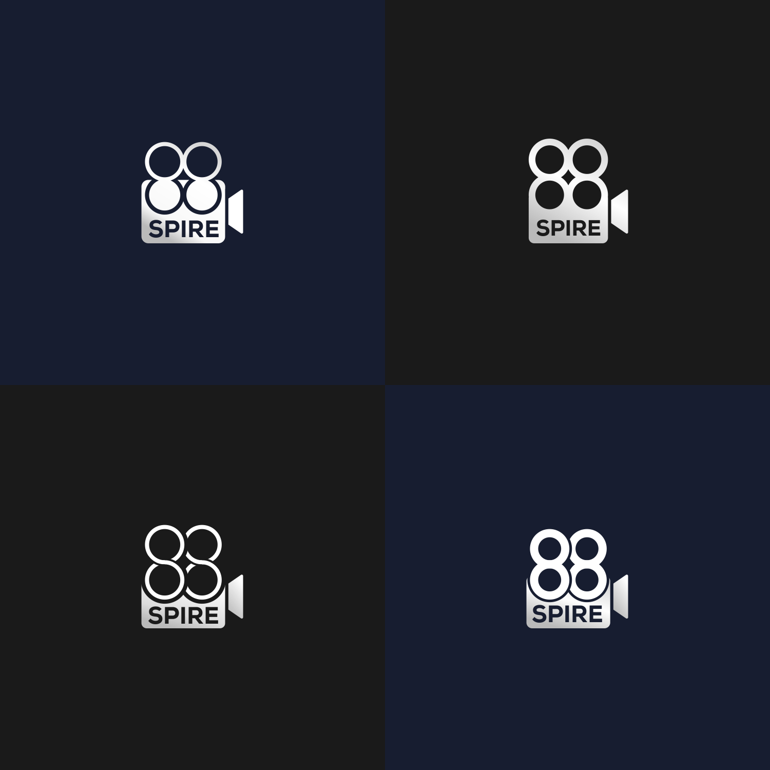 Videography company seeks new modern logo for 88spire Productions