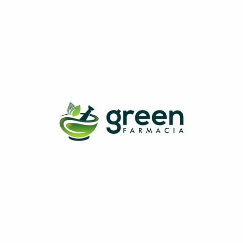 Natural logo concept for Green Farmacia