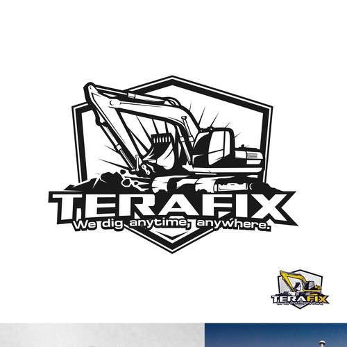 Trenching / excavator company logo design.