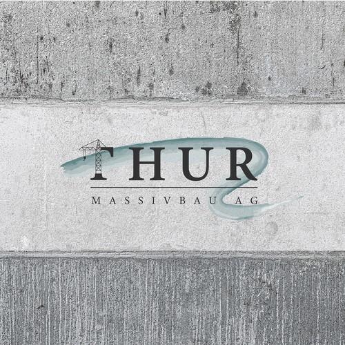 Logo design for Thur Massivbau AG, a Swiss construction company