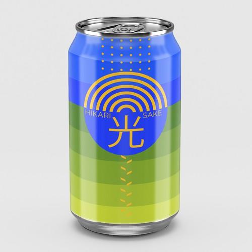 Trendy sake can design for 20-somethings