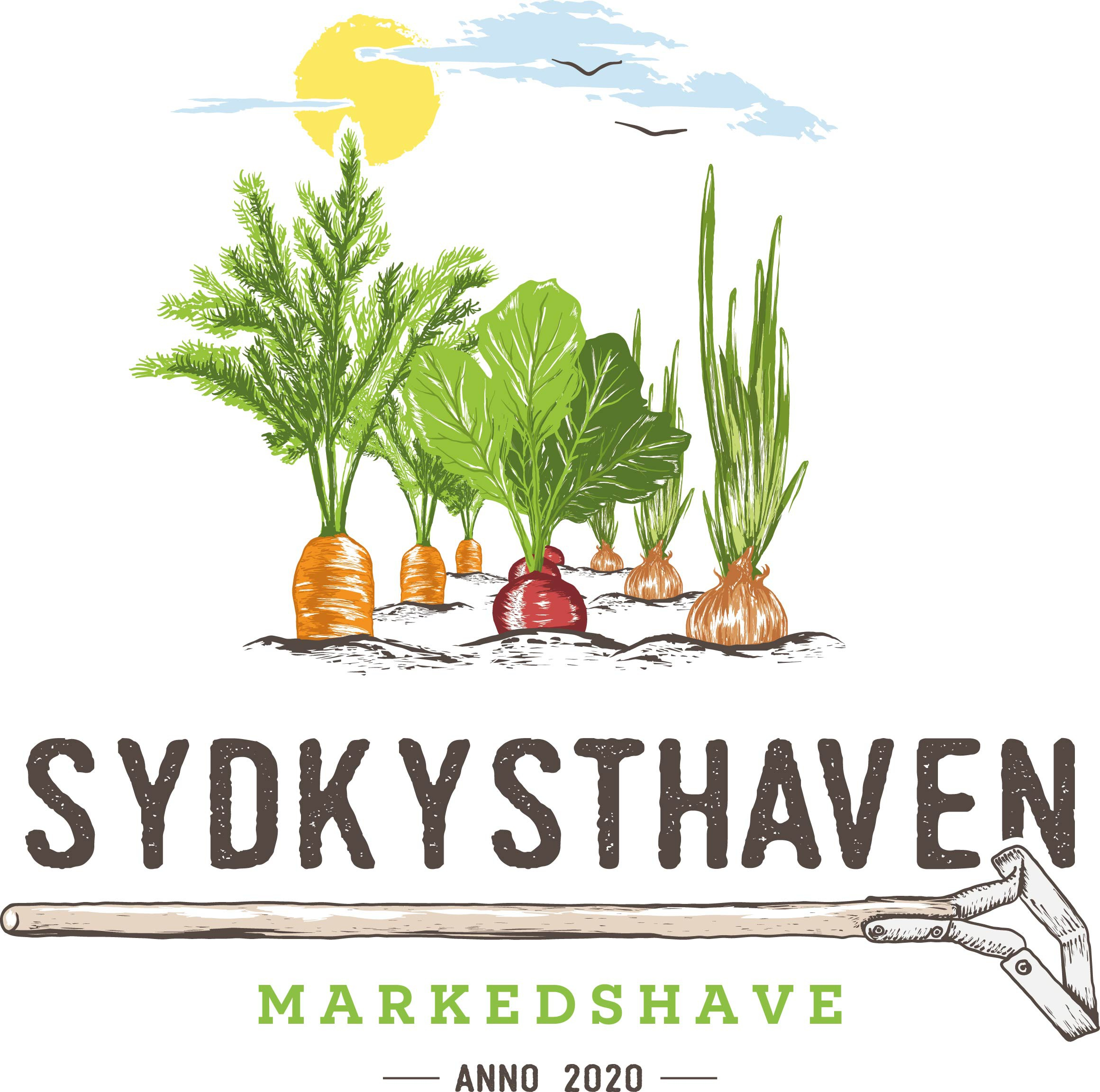 Design a beautiful logo for an organic Market Garden