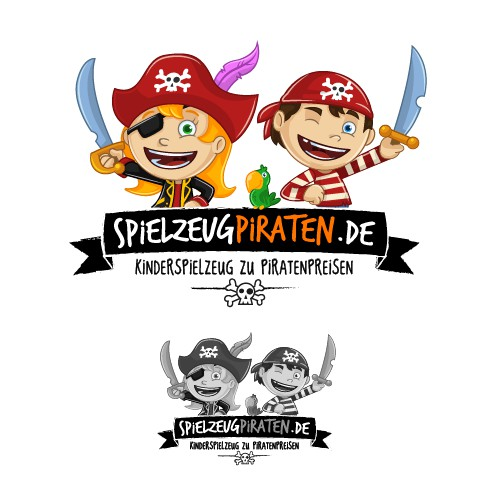 Yo Ho - a pirate's logo for ... our online kids toy store
