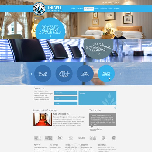 Unicell Cleaning Ltd. needs a new website design