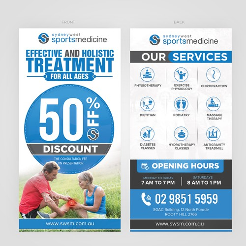 Sydney West Sports Medicine & Pharmaceutical Flyer
