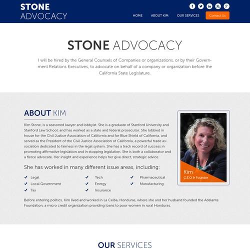 Stone Adocacy Minimal Design