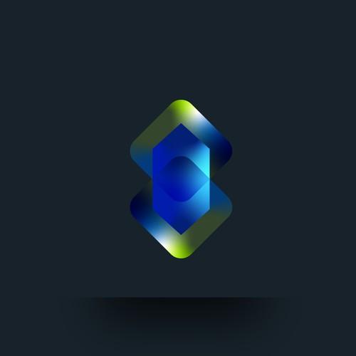 geometric shape gradient colorfull
