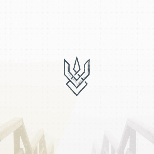 Abstract and unique trident logo