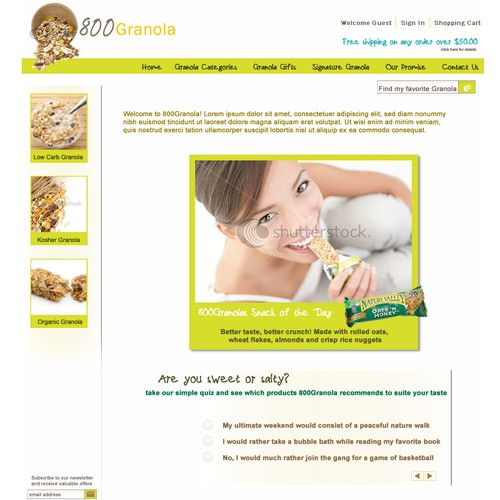 800Granola.com . New website for the #1 healthy snacks website