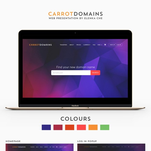 Website design for CarrotDomains.