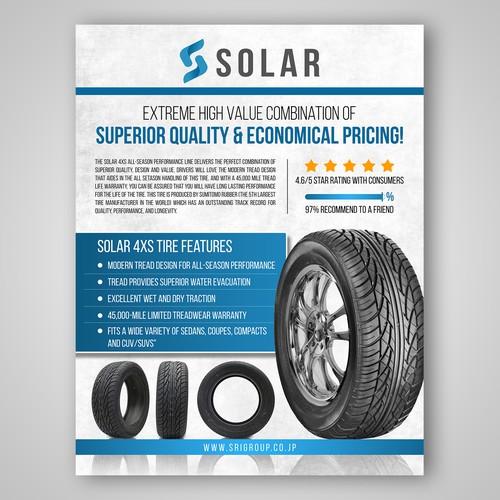 Solar 4XS tire