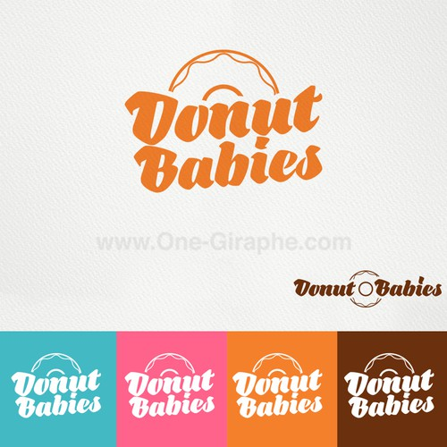 Create a playful, fun, energetic donut/bakery logo.