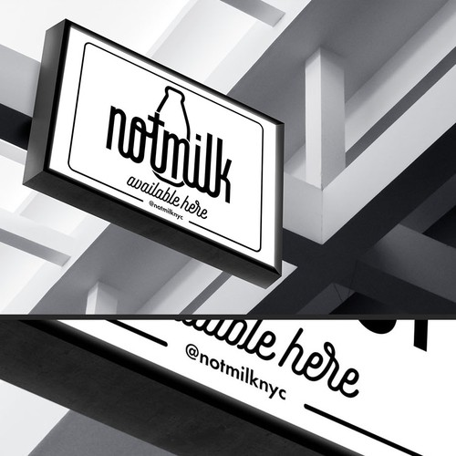 NotMilk sold here sign