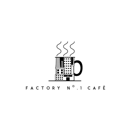Logo concept for factory themed cafe