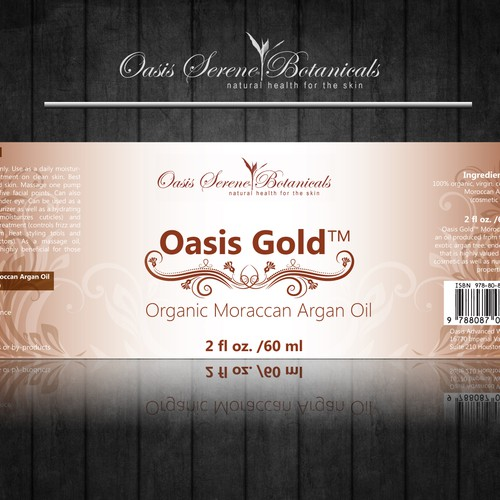 Help Oasis Serene Botanicals with a new print or packaging design