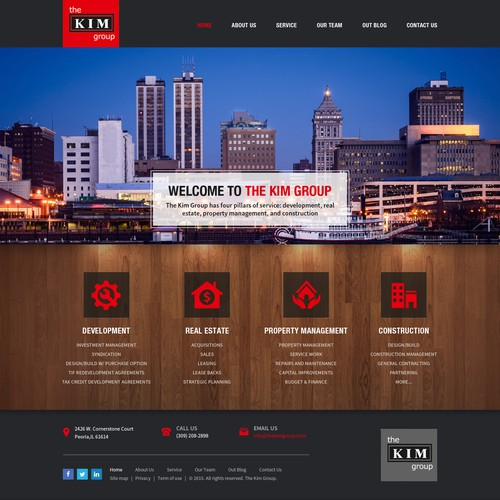 Home Page Design Concept For The Kim Group Ltd