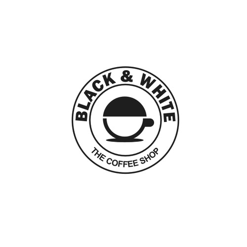 black and white coffee shop
