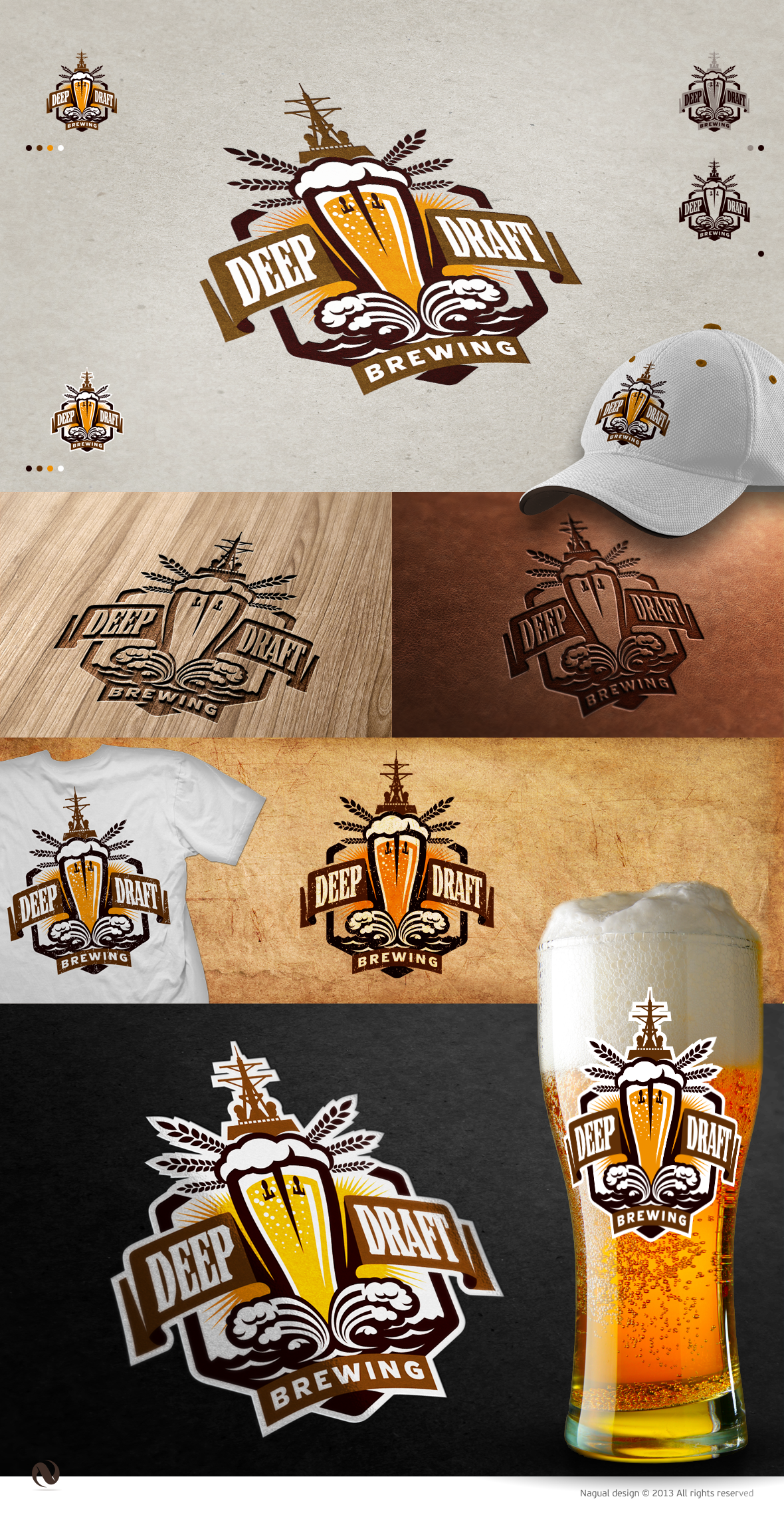 Create the next logo for Deep Draft Brewing