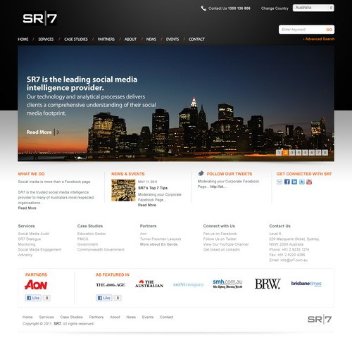 Create the next website design for SR7