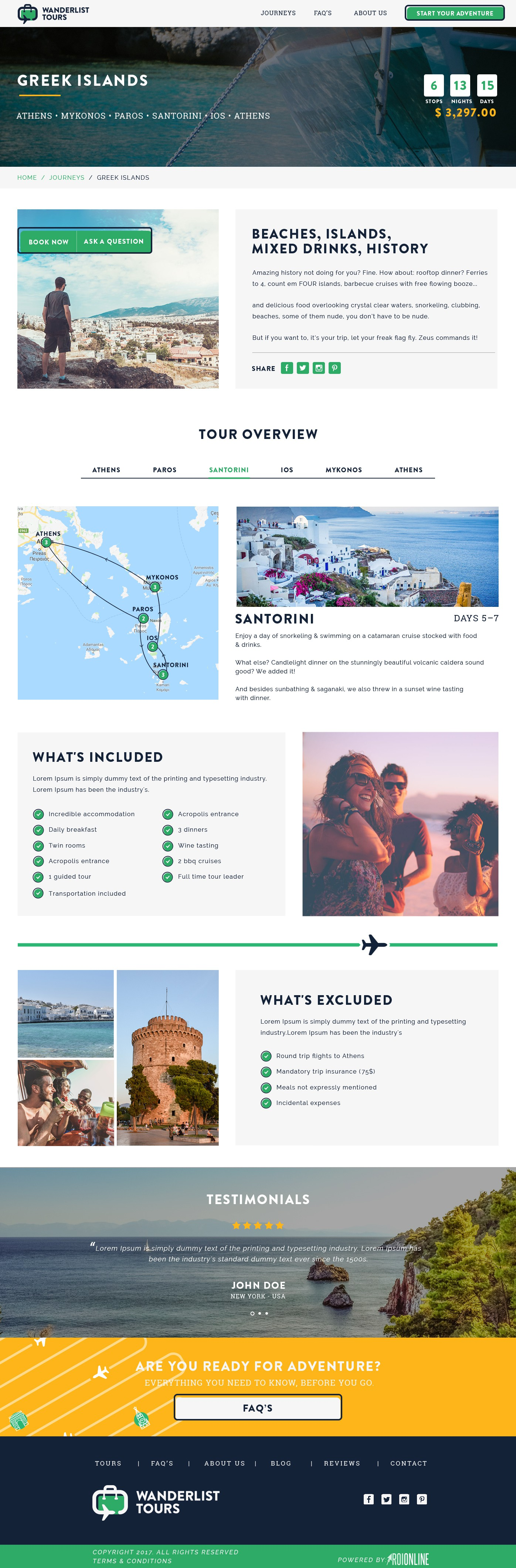 Complete Webdesign Project - WanderList Tours