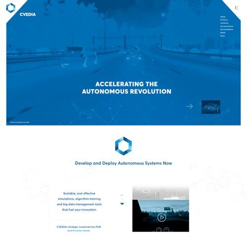 Webdesign for CVEDIA
